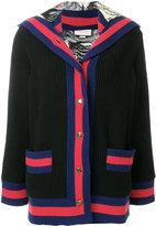 Gucci Web trim hooded cardigan
