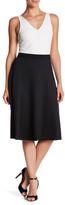 Bobeau Pinstripe A-Line Midi Skirt