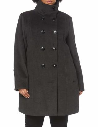 Ulla Popken Women's Wollmantel mit doppelreihigen Knopfen Coat