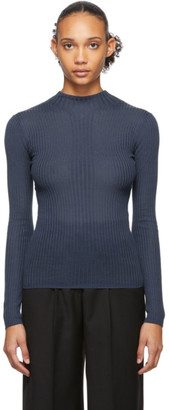 Études Blue Juliette Fitted Turtleneck