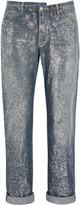 Golden Goose Deluxe Brand Karly Glittered Mid-rise Boyfriend Jeans - Mid denim
