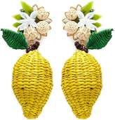 Mercedes Salazar 'Wild Lemon' drop clip earrings