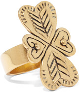Chloé Maddie Hammered Gold-tone Ring - 52