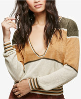 Free People Gold Dust Colorblocked Metallic Sweater