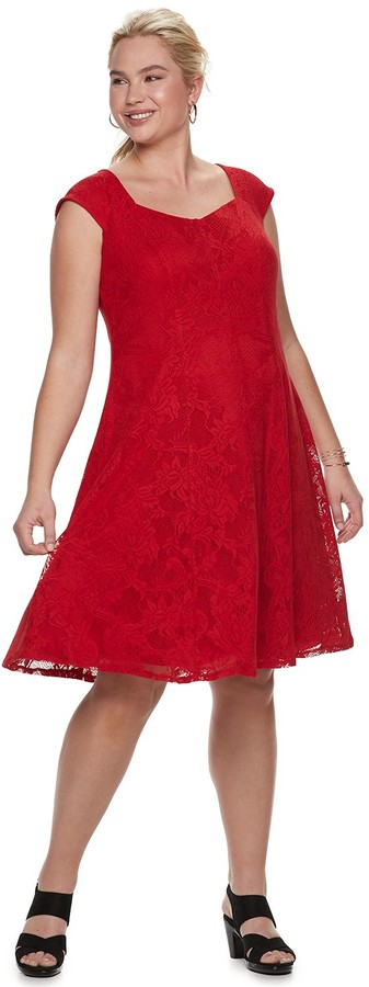 63155545da Red Kohl's Plus Size Dresses - ShopStyle