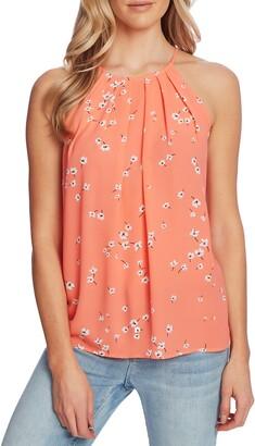 CeCe Floral Print Sleeveless Halter Top