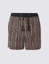 M&S Collection Linen Rich Printed Shorts
