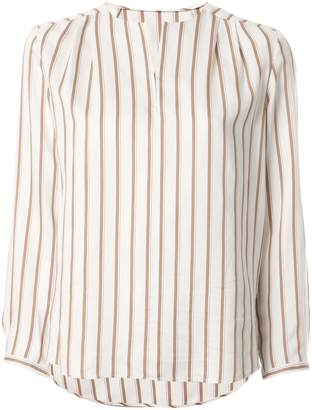 TOMORROWLAND striped long-sleeved blouse