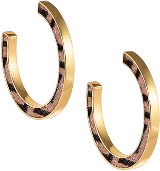 Uncommon James by Kristin Cavallari Zebra Hoop Earrings