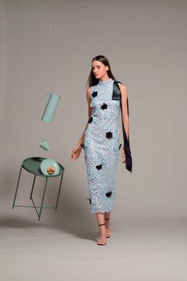 Isabel Sanchis Sleeveless Fitted Midi-Tea Dress