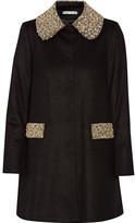 Alice + Olivia Alice Olivia - Iris Embellished Wool And Cashmere-blend Coat - Black