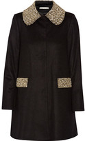 Alice + Olivia Iris Embellished Wool And Cashmere-blend Coat - Black