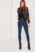 Missguided High Waisted Jeggings Indigo