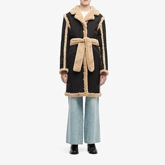 Opening Ceremony Reversible Faux Fur Coat (Black/Camel) Women's Clothing