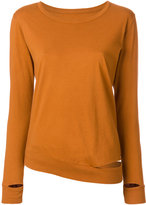 MM6 MAISON MARGIELA cut out hem long-sleeved top