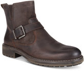 Kenneth Cole Reaction Men's Hyde Away Plain-Toe Mix-Media Moto Boots