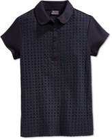 Nautica Uniform Eyelet Polo Shirt, Plus Girls