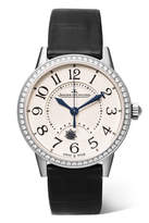 Jaeger-LeCoultre Rendez-vous Night & Day 29mm Stainless Steel, Diamond And Alligator Watch - Silver