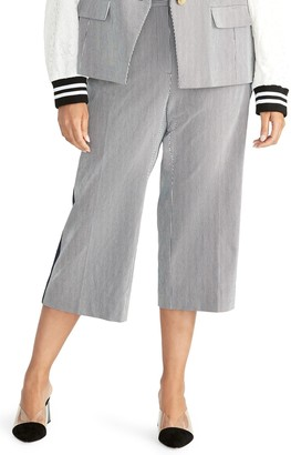 Rachel Roy Elin Crop Stripe Pants (Plus Size)