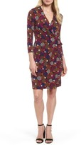 Anne Klein Women's Dot Print Faux Wrap Dress