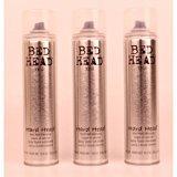 Tigi Bed Head Hard Hold Hairspray 10.6oz Lot Of 3