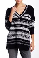 Vince Textured Stitch V-Neck Sweater