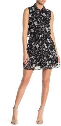 Know One Cares Floral Sleeveless Chiffon Shirt Dress