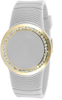 JCPenney TKO ORLOGI Womens Crystal-Accent White Silicone Strap Touch Digital Sport Watch