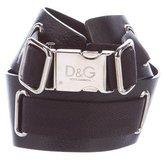 Dolce & Gabbana Leather & Canvas Belt