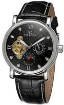 Forsining Men's Leather Moon Phase Wrist Watch FSG800M3S10