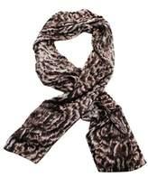 Roberto Cavalli Silk Scarf Patterned Scarf, White Black Print Details.