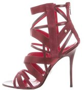 Cesare Paciotti Satin Cage Sandals w/ Tags
