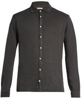 Massimo Alba Crocket Point-collar Linen Shirt
