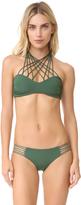 Mikoh Kahala Crisscross Halter Bandeau Bikini Top