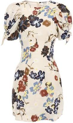 Sea Knotted Floral-print Cotton-gauze Mini Dress