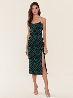 Bec & Bridge Discotheque Animal Print Jacquard Midi Dress