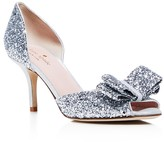 Kate Spade Sela Glitter d'Orsay Peep Toe Pumps