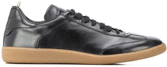 Officine Creative Germain contrasting sole sneakers