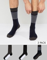 French Connection 3 Pack Socks