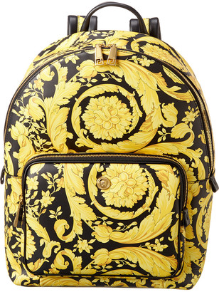 Versace Baroque Leather Backpack