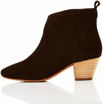 Find. Amazon Brand Women's Ankle Boots Brown Caramel) US 6.5