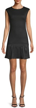 Rebecca Taylor Stacy Fit-&-Flare Flounce Dress