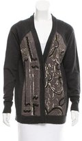 Nanette Lepore Wool Sequin-Accented Cardigan
