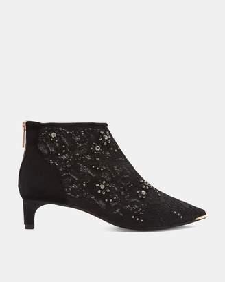 Ted Baker Embellished Kitten Heel Boots