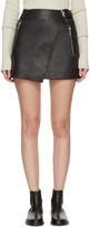 Etoile Isabel Marant Black Leather Kakili Miniskirt