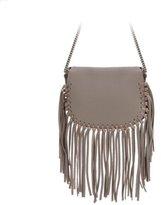 Cambio Fraces Natural Leather Tassel Shoulder Bag