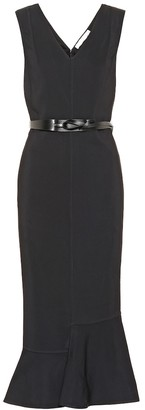Victoria Beckham Belted crepe dress