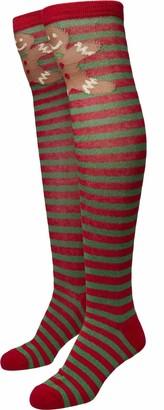 Urban Classics Women's Christmas Overknees Socks
