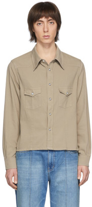 Our Legacy Beige Shrunken Frontier Shirt