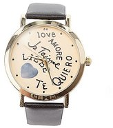 Charlotte Russe Je Taime Faux Leather Watch